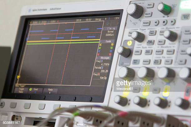 Electronic measuring device oscilloscope