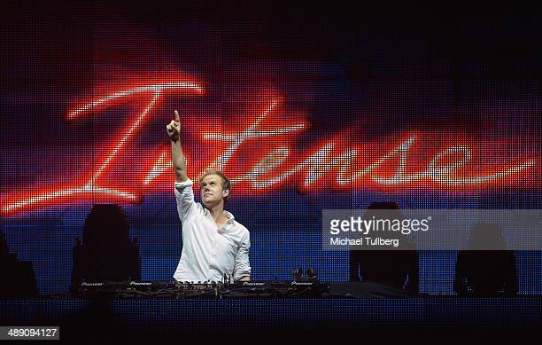 Electronic music artist Armin van Buuren performs on his 'Armin Only Intense' world tour at The Forum on May 9 2014 in Inglewood California