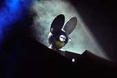 Electronic music artist Deadmau5 performs during Day 2 of the HARD Day Of The Dead electronic music festival at Los Angeles Historical Park on...