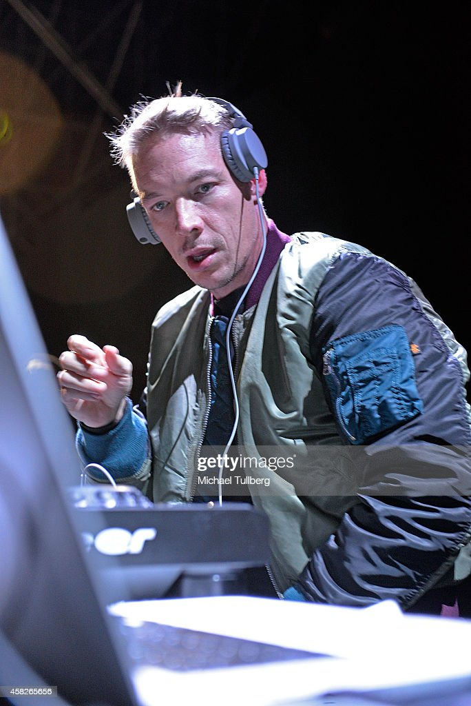 Electronic music artist Diplo performs during Day 1 of HARD Day Of The Dead 2014 at Fairplex on November 1 2014 in Pomona California