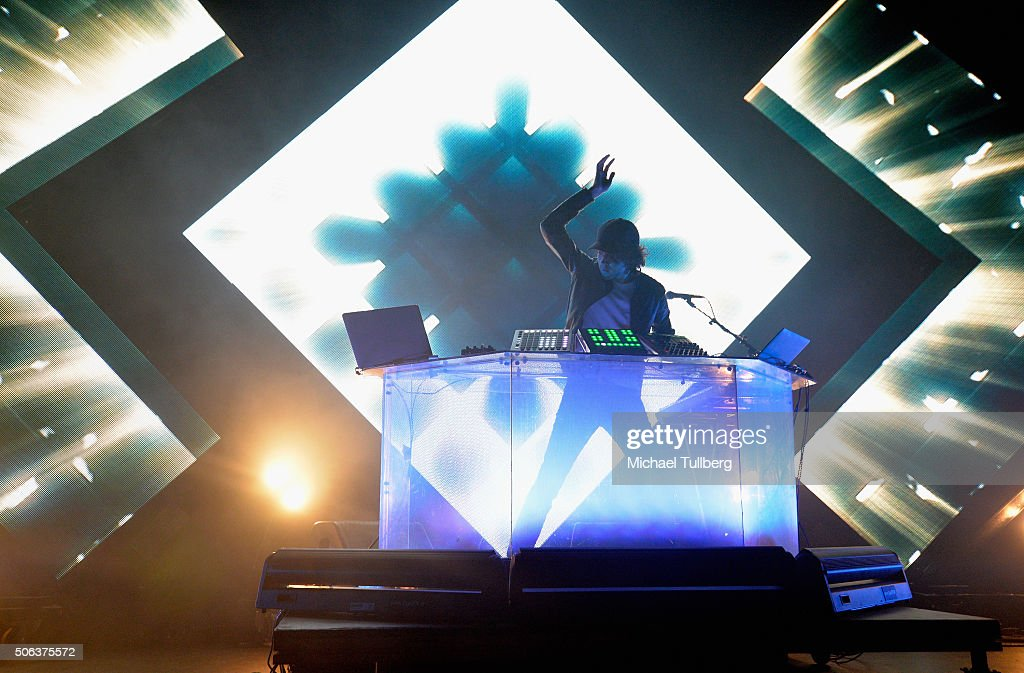 Electronic music artist <a gi-track='captionPersonalityLinkClicked' href=/galleries/search?phrase=Madeon&family=editorial&specificpeople=9131513 ng-click='$event.stopPropagation()'>Madeon</a> performs at Club Nokia on January 22, 2016 in Los Angeles, California.