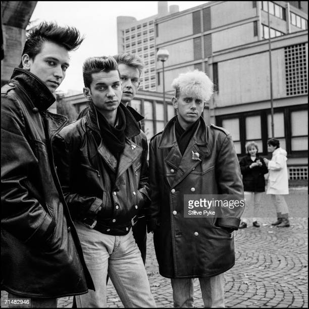 Electronic pop group Depeche Mode circa 1984 From left to right Alan Wilder Dave Gahan Andy Fletcher and Martin Gore