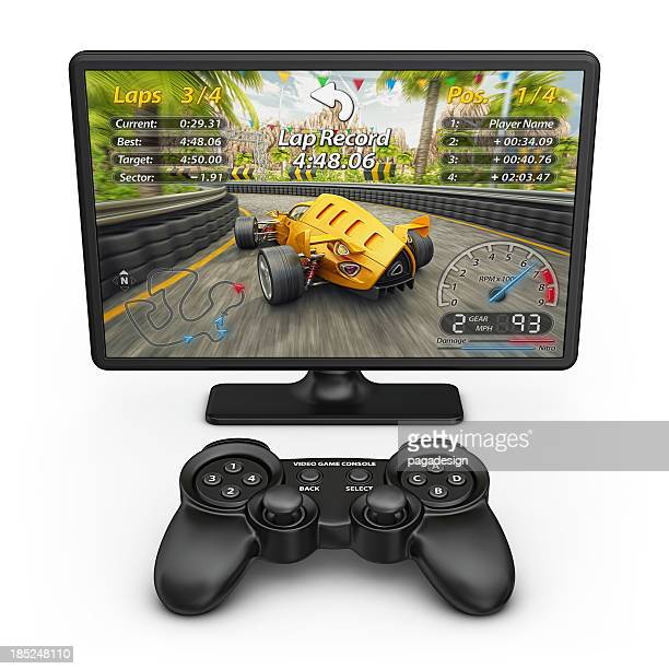 Electronic racing game and controller