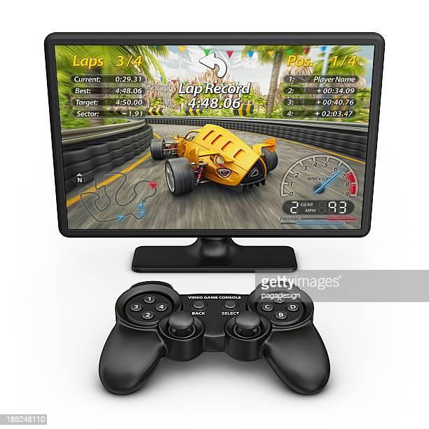 Elektronische racing game und controller