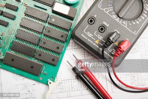 Elektronische Techniker : Stock-Foto
