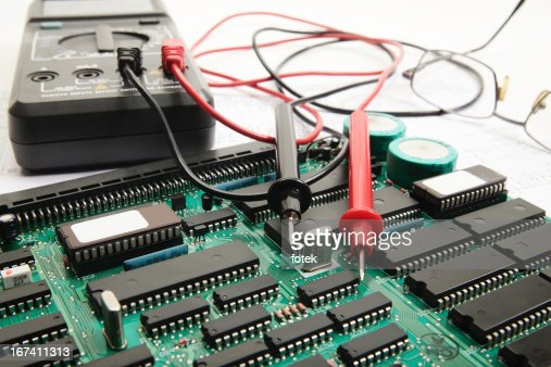 Electronic technician : Stock Photo