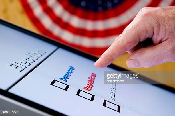 Le vote électronique de vote à main