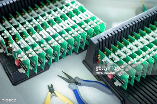 Electronics detail in cable finishing factory