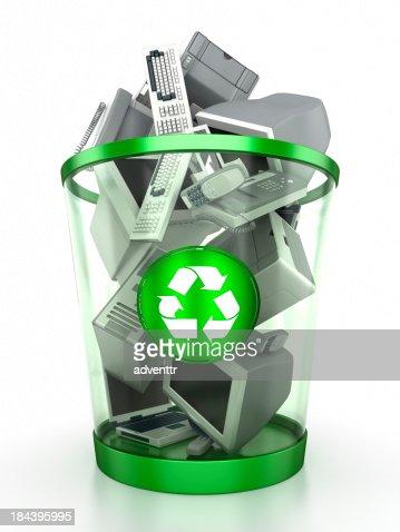 Electronics recycling bin