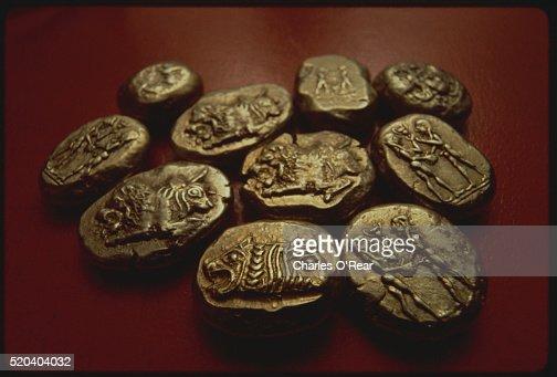 Electrum Coins : Stock Photo
