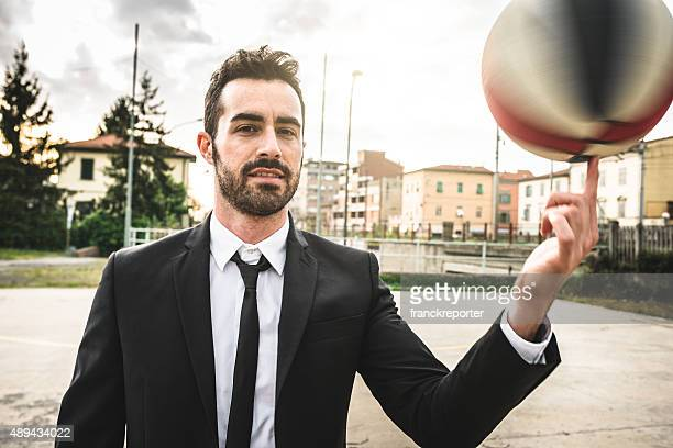 Elegance fashion basketball player on the court