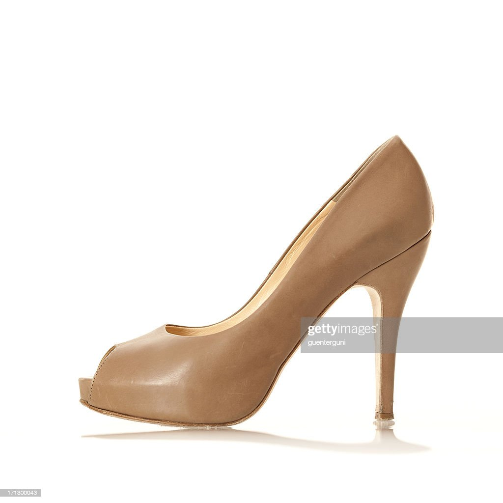 'Elegangt High Heels with peep toe, nude colored'