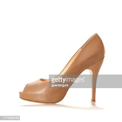 Elegangt High Heels with peep toe, nude colored