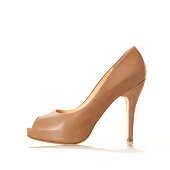 'Elegangt High Heels with peep toe, nude colored'