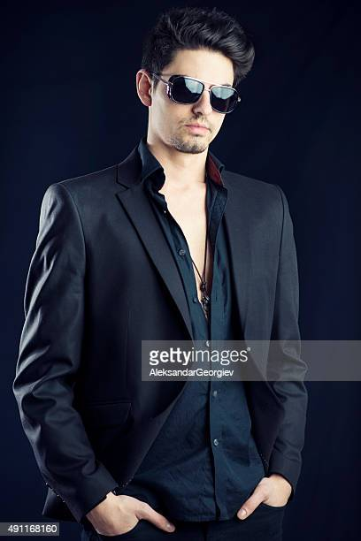 Elegant and Stylish Handsome Business man with Sunglasses