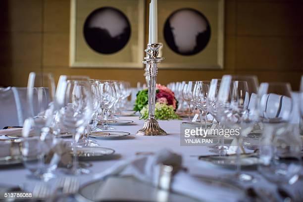 Elegant banquet dining room