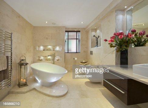 elegant bathroom with flowers