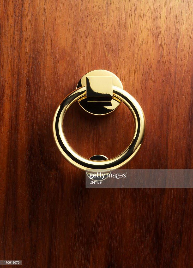 Elegant Brass Door Knocker 3 : Stock Photo