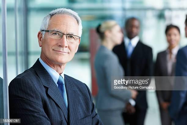 Elegant business man smiling