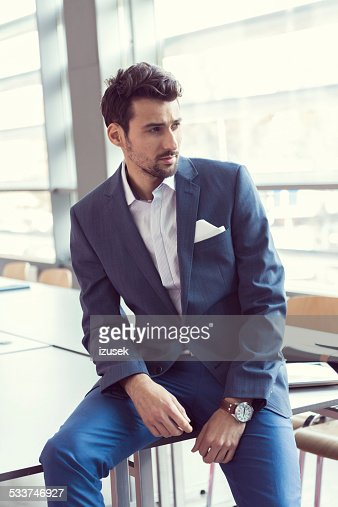 Elegant businessman in the office