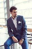 Elegant businessman in the office