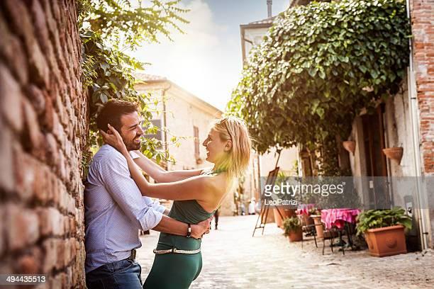 Elegant couple enjoying relationship