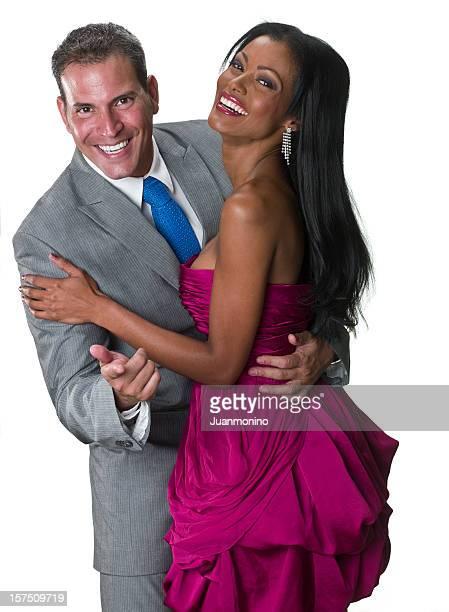 Elegant couple having fun