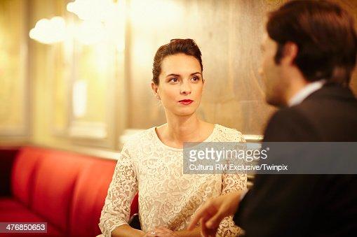 Elegant couple in restaurant : Stock Photo