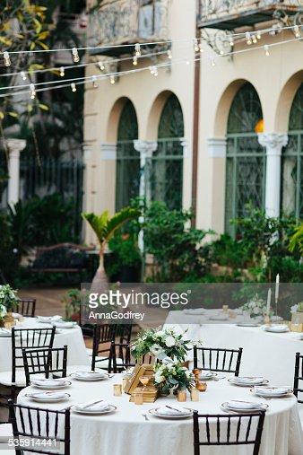 Comedor elegante patio : Foto de stock