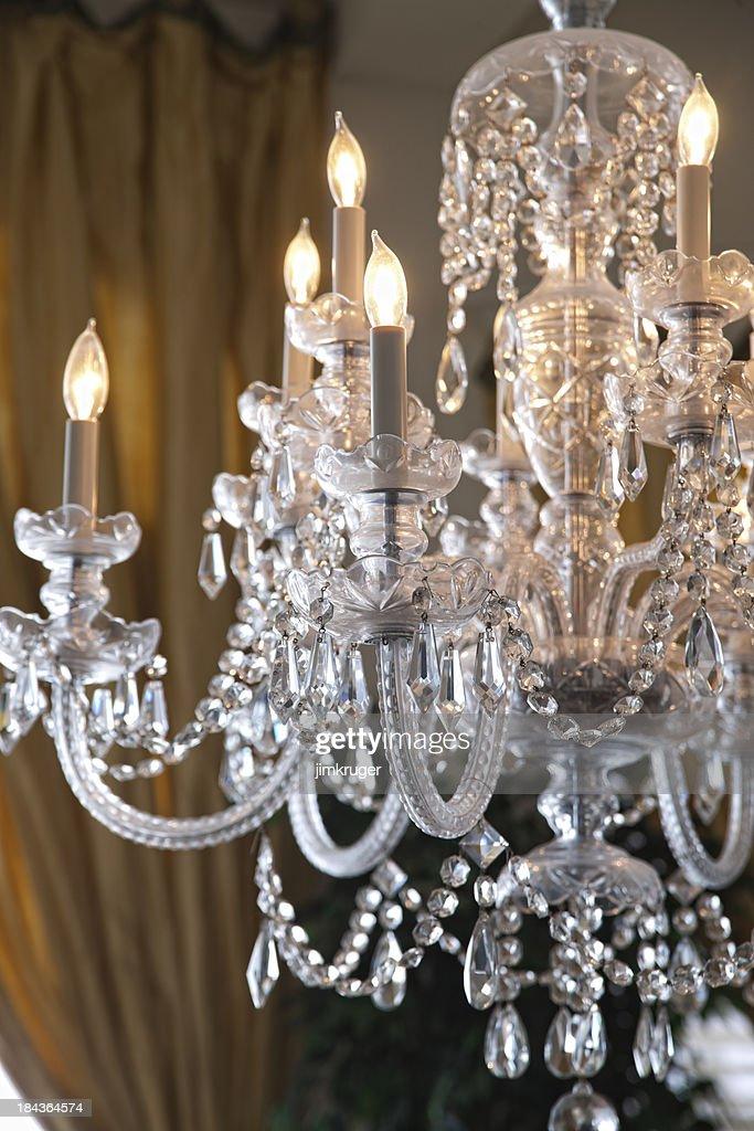 Elegant crystal chandelier.