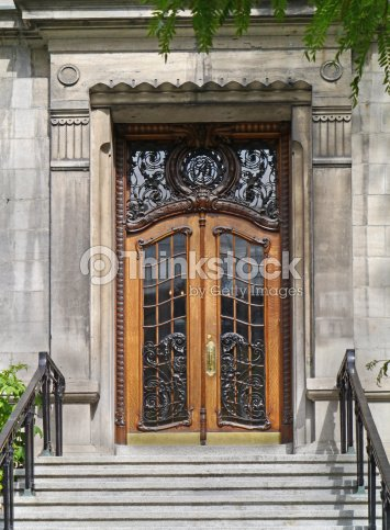 Elegant Front Door Stock Photo