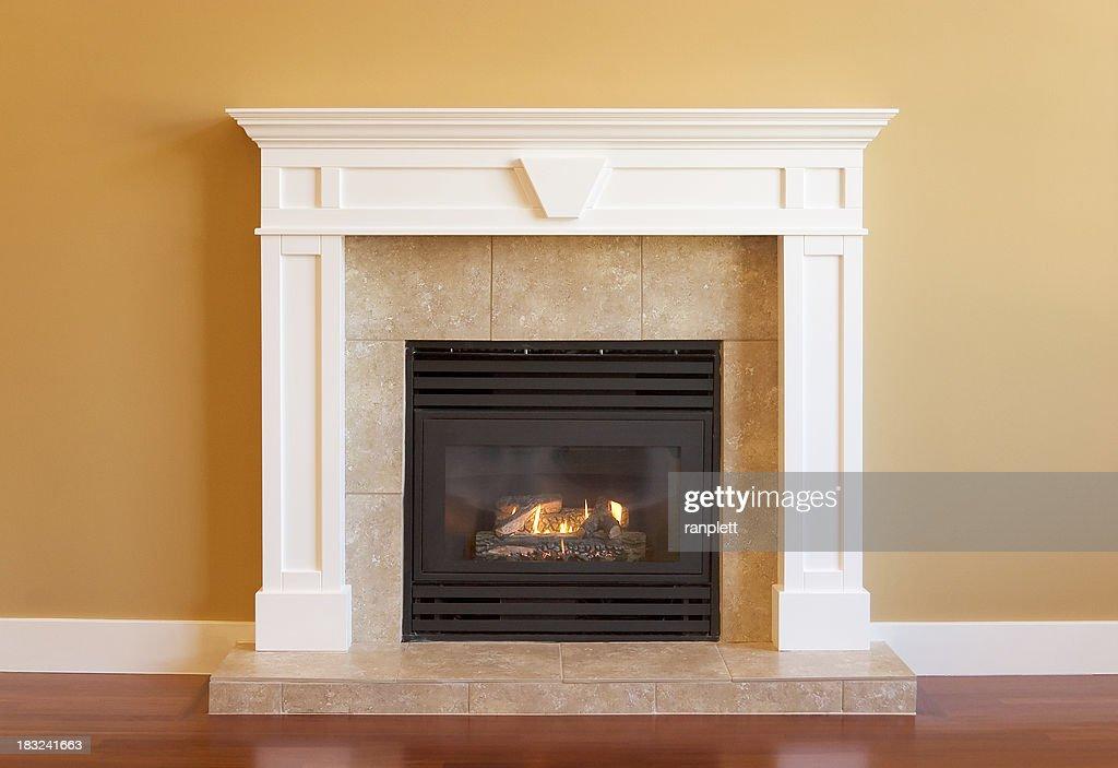 Elegant Gas Fireplace