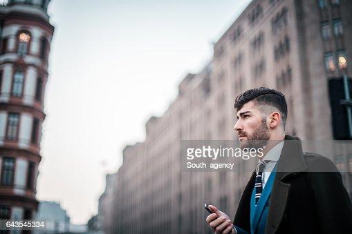 Elegant gentleman in suit