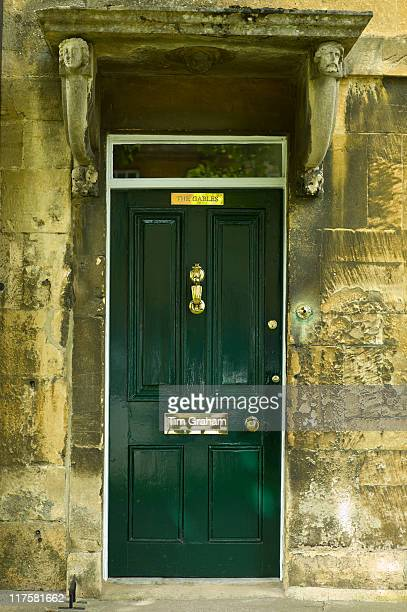 Elegant Georgian style doorway in Chipping Campden The Cotswolds Gloucestershire