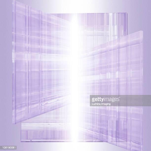 elegant glass backdrop