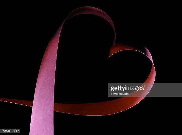 Elegant Heart shape of a paper