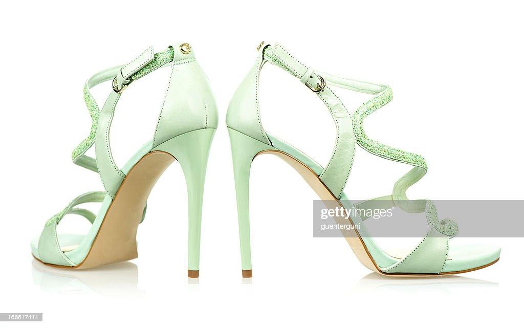 Elegant High Heels sandals in mint green