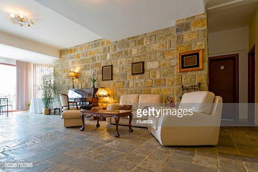Elegant Hotel Lobby Interior Stock Photo Thinkstock