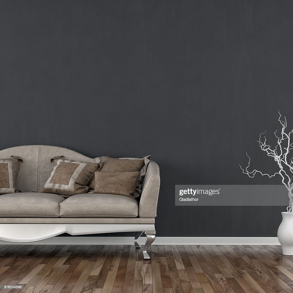 Elegant living room with sofa and decoration : Stock-Foto