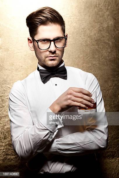 Elegant man at a party