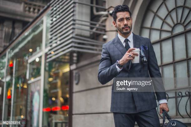 Elegant modern man in city