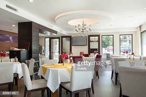 Restaurante elegante interior : Foto de stock