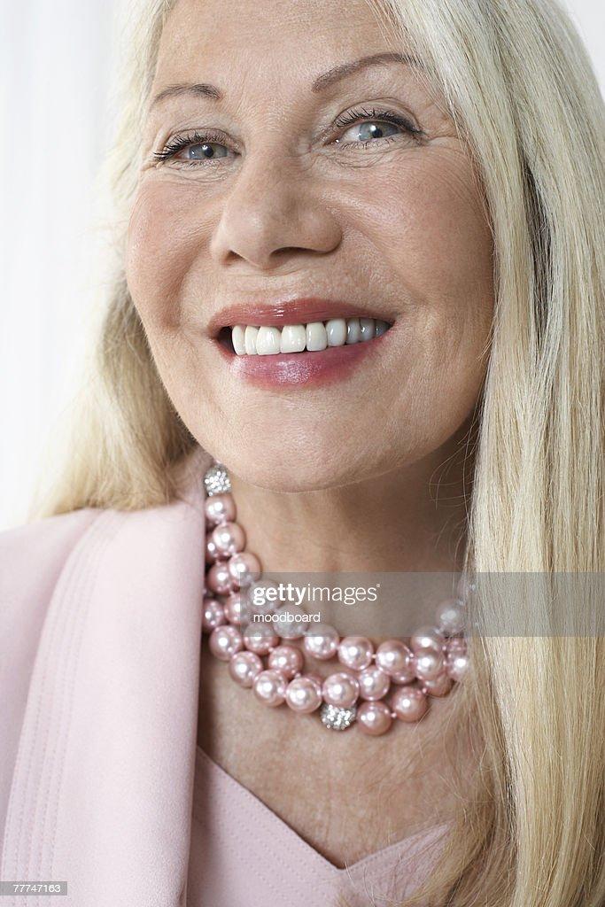 Elegant Senior Woman : Stock Photo