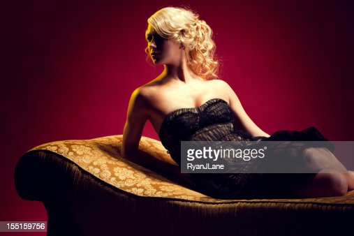 Elegant Woman in Evening Gown
