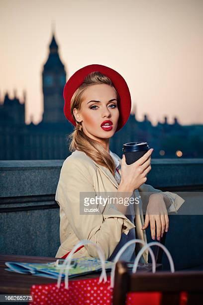 Elegant woman in London