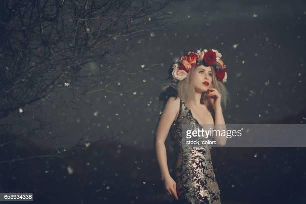 elegant woman in the night