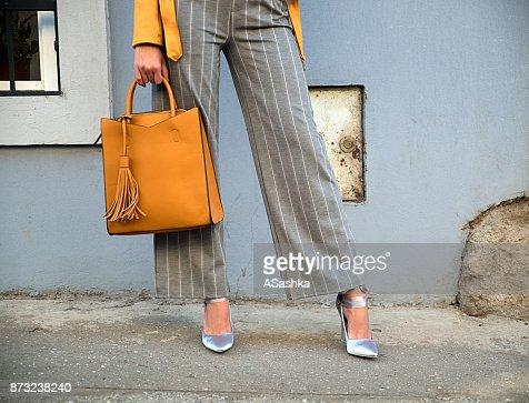 Elegant woman wearing high heels : Stock Photo