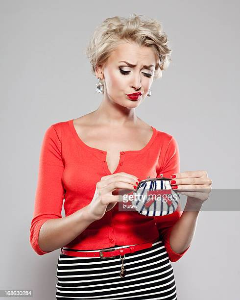 Elegant woman with wallet