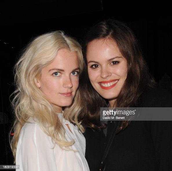 Elektra Kilbey and Atlanta de Cadanet Taylor attend the Dazed Confused October issue launch party at Chotto Matte on September 17 2013 in London...