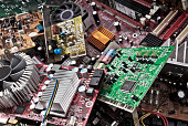Eine große Menge Elektronikschrott